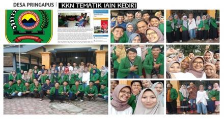 Kunjungan  dan  Monitoring Peserta KKN Oleh LPPM IAIN Kediri dan KOMPAK Jakarta di Desa Pringapus